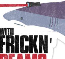 Sharks with frickn laser beams Sticker