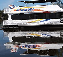 House Boat & Reflection, Mildura, N.S.W. by Rita Blom