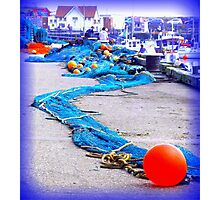 Scarborough Harbour Blue Photographic Print