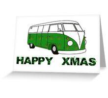 Hippy Xmas Greeting Card