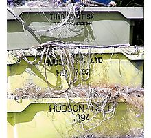 Stack Of Fishing Net Skips Photographic Print