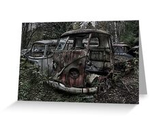VW Graveyard 03 Greeting Card