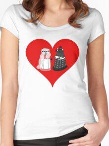 Dalek Wedding Women's Fitted Scoop T-Shirt