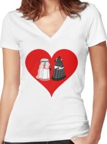 Dalek Wedding Women's Fitted V-Neck T-Shirt