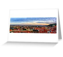 Prague overview Greeting Card