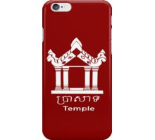 Temple - English and Khmer iPhone Case/Skin