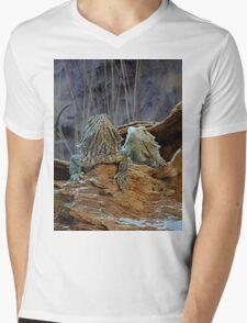 Two curious lizards Mens V-Neck T-Shirt