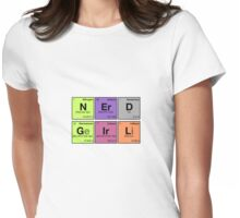 NERD GIRL - Periodic Elements Scramble! Womens Fitted T-Shirt