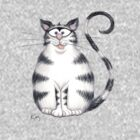 Kazart Fat Cat Tee by Karen Sagovac