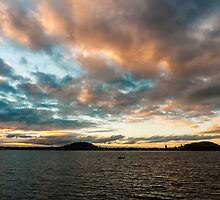 Sunset Over Auckland Bay by Andrew Lever