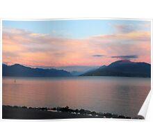Lake Garda Panoramic Sunset View Poster