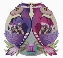 Gemini Dinosaur Zodiac Kids Tee