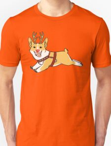 Rudolph the Red Nosed Corgi T-Shirt