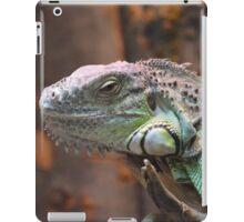 Beautiful peaceful Iguana Lizard sitting on a tree.  iPad Case/Skin
