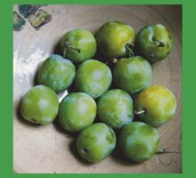 Greengages Displayed In A Ceramic Bowl Kids Tee