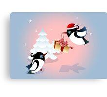 Winter Season Card - Birds Christmas Gift Canvas Print