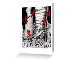 The War pen ink surreal drawing Greeting Card