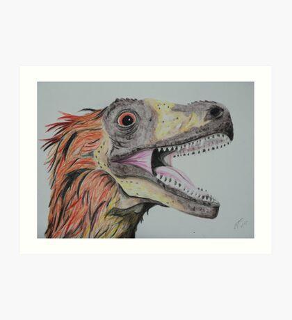 Feathered Dinosaur Art Print
