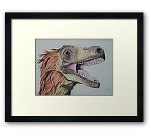 Feathered Dinosaur Framed Print