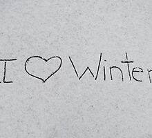 I love winter by Nicole Gushue