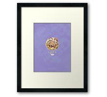 Libra Dinosaur Zodiac Framed Print