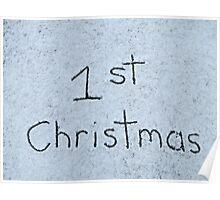 1st Christmas Poster