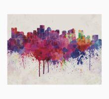 Boston skyline in watercolor background Baby Tee