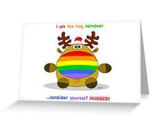 reindeer hug Greeting Card