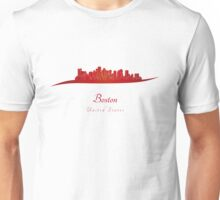 Boston skyline in red Unisex T-Shirt