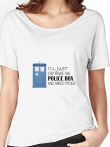 POLICE BOX - tardis Women's Relaxed Fit T-Shirt