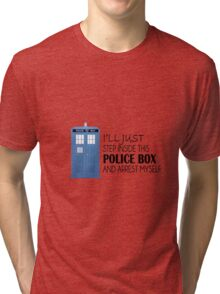POLICE BOX - tardis Tri-blend T-Shirt