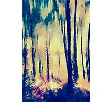 blury forest Photographic Print