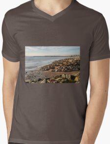 November Seascape 4 - Lyme Regis Mens V-Neck T-Shirt
