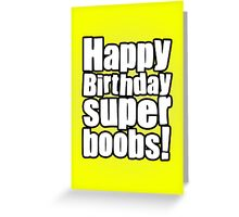 Birthday Boobies Greeting Card