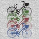 Retro Ladies Bikes by Frederick James Norman