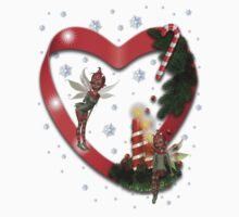 Christmas Heart .. fantasy tee by LoneAngel