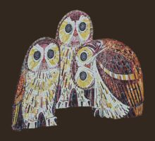 Three Owls - Art Nouveau Inspired by Klimt T-Shirt