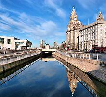 Liverpools Pier Head. by Lilian Marshall