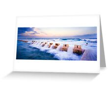 Merewether Baths, Starting Blocks Greeting Card