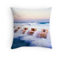 Merewether Baths, Starting Blocks Throw Pillow