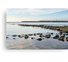 November Seascape 5 - Lyme Regis Canvas Print