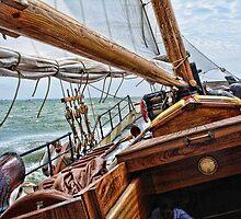 Ship on IJsselmeer, Holland by pvhonk