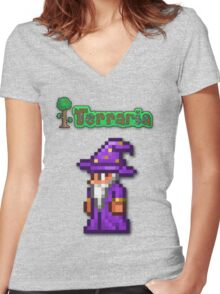Terraria Wizard Women's Fitted V-Neck T-Shirt