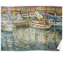 Castellon, Boats at Dusk Poster