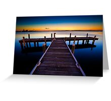 Squid's Ink Jetty Greeting Card