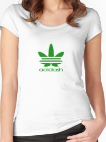 ADIDASH GREEN BIG Women's Fitted Scoop T-Shirt