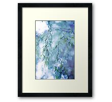 Silver Branches Framed Print