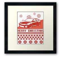 Merry Christmas evo - red Framed Print