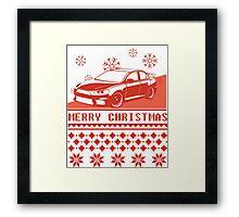Merry Christmas evo - red Framed Print