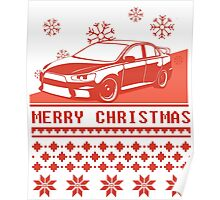 Merry Christmas evo - red Poster